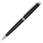 Waterman Hemisphere Ballpoint Pen in Black & Silver