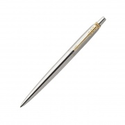 Parker Jotter Steel Ballpoint Pen with Gold Trim