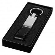 Silver Plated Keyfob with Black Strap
