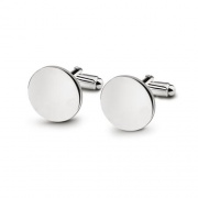 Personalised Silver Plated Round Cufflinks