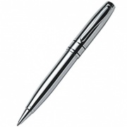 Shiny Chrome Plated Ballpoint Pen with Case