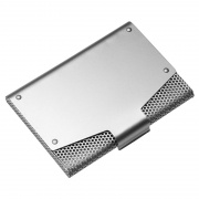 Mesh Business Cards Case with Silver Metallic Finish