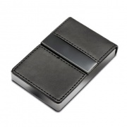 Business card holders from business gifts supplier business black leather metal business cards holder reheart Images