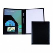 A4 Conference Folder in Black Belluno Leather
