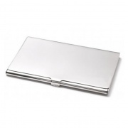 Smooth Silver Plated Business Card Holders
