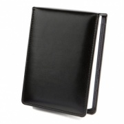 Deluxe Desk Jotter in Black Torino PU Leather