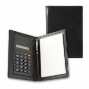 Belluno Leather Pocket Jotter with Calculator and Pen