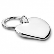 Silver Plated Heart Shaped Keyrings