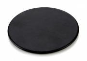 Round Coaster in Black Belluno Leather