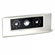 Silver Plated Weather Station Clocks