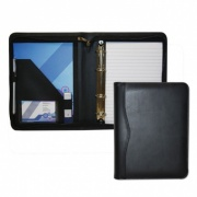Houghton PU Leather A5 Zipped Ring Binder
