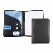 Black Houghton PU Leather A4 Conference Folder