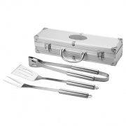 Three Piece BBQ Set in Aluminum Case