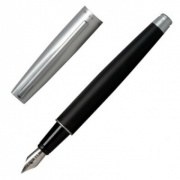 Designer Matt Black & Silver Ink Pen