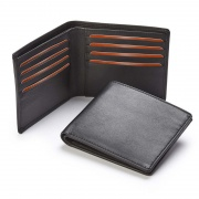 Engraved Nappa Leather Billfold Wallet