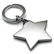 Nickel Plated Star Shaped Keyrings