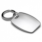 Nickel Plated Rectangle Shaped Keyrings
