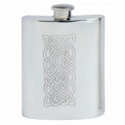 Pewter Flask with Celtic Knot Decoration