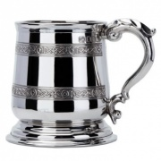 Pewter Tankard with Celtic Bands