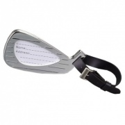 Silver Golf Luggage Tag