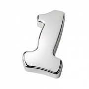 Silver Number One Paperweight